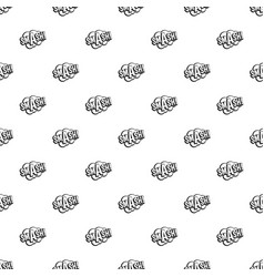 Smash comic book bubble text pattern vector