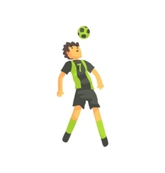 Football Player Getting Ball On The Head Isolated vector image vector image
