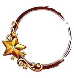 Logo design with golden stars vector image