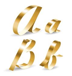 Ribbon alphabet ab vector image