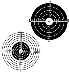 set targets for practical pistol shooting vector image vector image