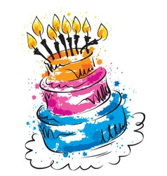 - funny cake vector image