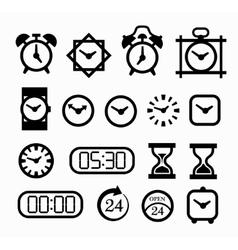 Clock icons set vector image