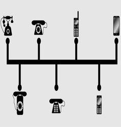 Evolution phones vector image