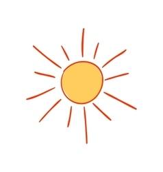 Hand-drawn sun vector