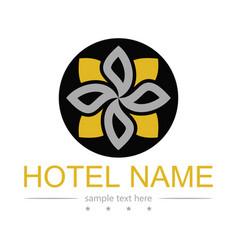 hotel logo vector image