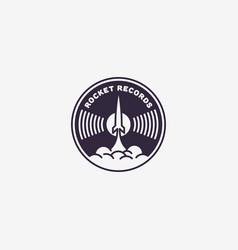 rocket records logo vector image