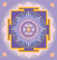 Sacred Geometry saturn yantra vector image vector image