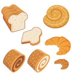 Set of loaves and bread vector image