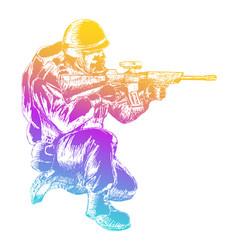 sketch soldier vector image vector image