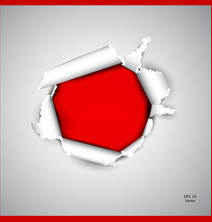 Torn red paper vector image vector image