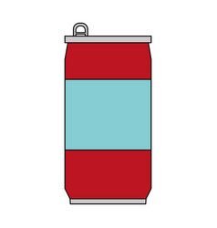 color image cartoon soda can of drinks vector image