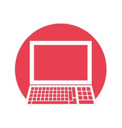 laptop study school ico vector image
