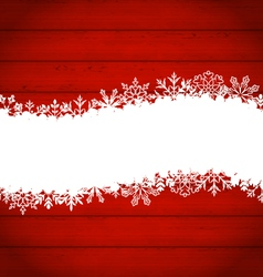 snowflakes border for Happy New Year - vector image vector image