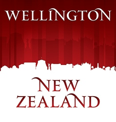 Wellington New Zealand city skyline silhouette vector image vector image