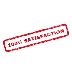 100 Percent Satisfaction Text Rubber Stamp vector image