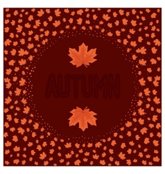 Abstract autumn card vector image