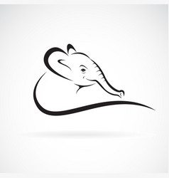 an elephant head design on a white background vector image