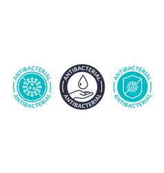 antibacterial soap logo antiseptic bacteria clean vector image