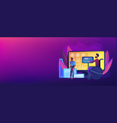 Assistive technology concept banner header vector