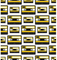 audiocassette seamless pattern vector image