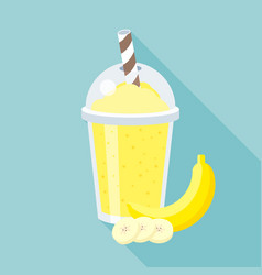 banana smoothie vector image