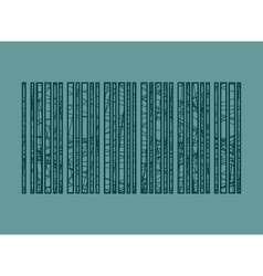 barcode pencil strokes painted vector image
