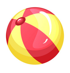 beach ball bright striped kid water toy vector image