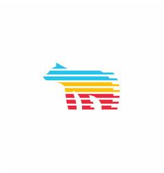 Bear colorful logo icon vector