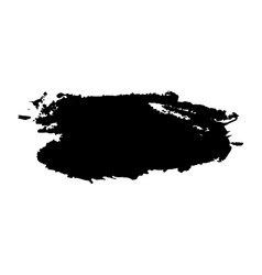 black ink paint brush stroke abstract hand vector image