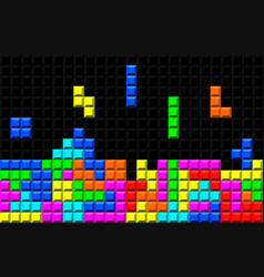 Brick retro game vector