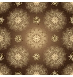 Browne seamless pattern with shiny flowers vector image
