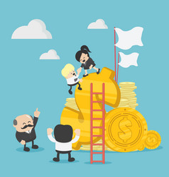 Business team of successful profits vector