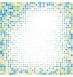Colorful halftone backgroundHalftone dots frame vector image