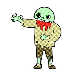 comic cartoon spooky zombie vector image