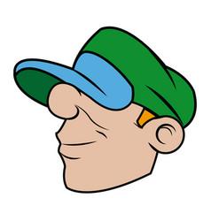 Cool cartoon graffiti guy with cap image vector