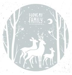 deer in frame vector image