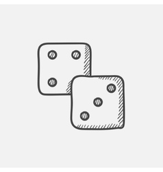 Dice sketch icon vector image