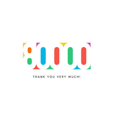 Eighty thousand subscribers baner colorful logo vector