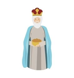 elderly wise man gaspar kneel down vector image