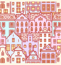 europe house or apartments seamless pattern cute vector image