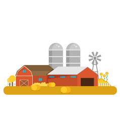 farm flat element vector image