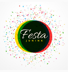 Festa junina party celebration background with vector