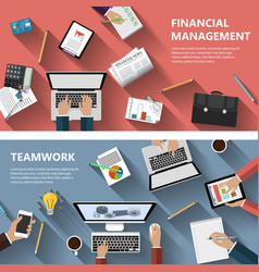 Financial menagement and teamwork concept vector image