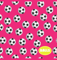 Football ball seamless pattern on pink background vector