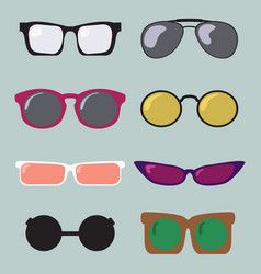 glasses color modern fashion set design icon vector image