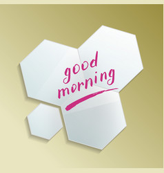 Good morning message on modern misted mirror vector