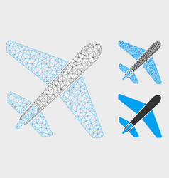 Jet airplane mesh wire frame model and vector