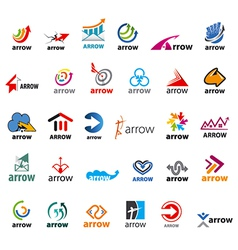 Large set of logos arrow vector