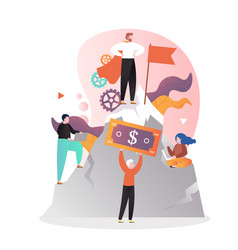 leadership concept for web banner website vector image